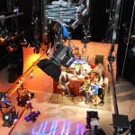 TV studio live from above