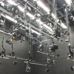 TV studio raise and lower lighting bars