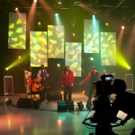 Live music filming at Middlesex University TV studiod