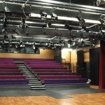 Stage lighting and retractable seating