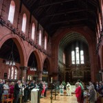 St Dunstan's Church Easter congregation