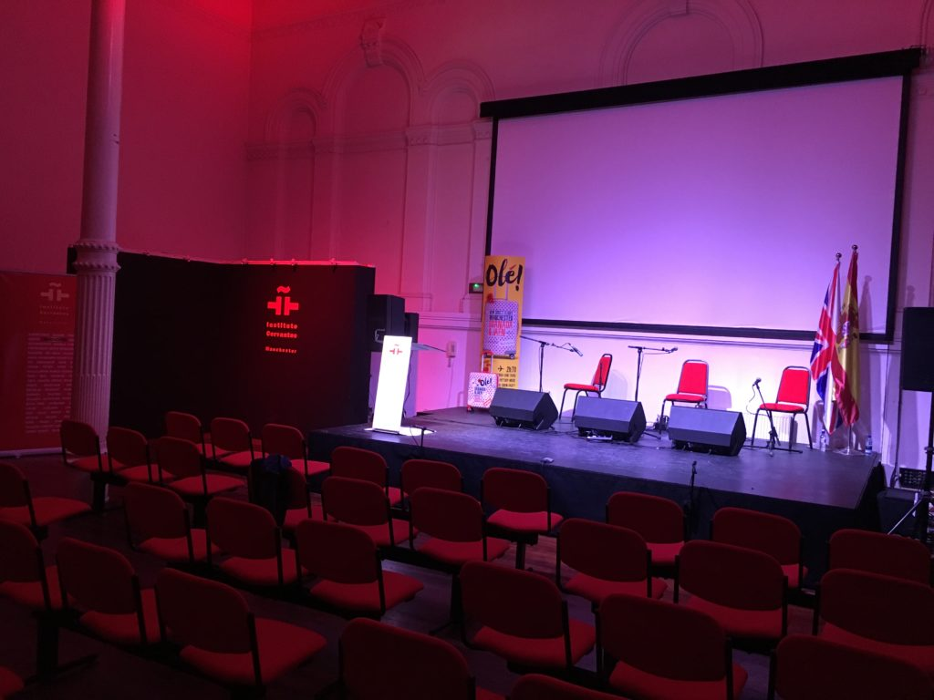 Instituto Cervantes Main Hall Stage Lighting