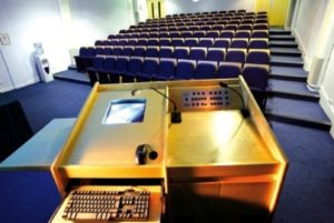 Audio System Lecturn Installation Conference Venue