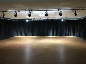 Drama Studio Stage Curtain Installation